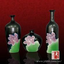 Fine black glazed Jingdezhen pottery crafts