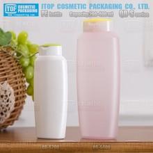 QB-S400 400ml hot-selling beautiful designed shampoo bottle 400ml capacity plastic pe squeez bottle