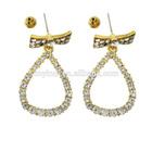 Fashion Beautiful Alloy CZ Diamond Drop Earrings