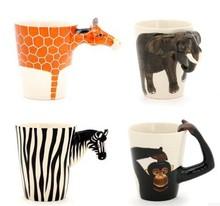 Three-Dimensional Animal Creative Ceramic Coffee Mug Animal Arm Head Ceramic Beer Mug Animal Mug