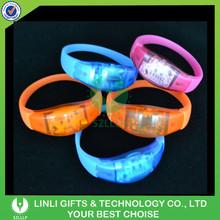 Novelty Fashion LED Flashing Promotion Bracelet For Gifts, Colorful Light Up Sound Activated Promotion Bracelet For Concert
