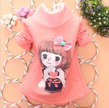 China new long sleeve fashion t-shirt autumn children cartoon sweet girl's tops