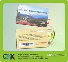 plastic employee id card/plastic signature panel cards/plastic pvc magnetic card