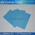 คาร์บอนไฟเบอร์3dสติกเกอร์รถซุปเปอร์, ท้องฟ้าสีฟ้าม้วนกาวตนเองฟิล์มพีวีซี1.52* 30m