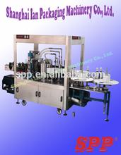 Automatic Hot Melt Glue Labeling Machine, SPP-HG2-24K, round bottle, hot adhesive, 5 Gallons
