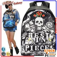 BBP204 Skull pattern Large Capacity waterproof school backpacks 15 inches laptop backpack