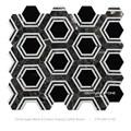 esagono bianco e nero waterjet marmo design mosaico pattern piano