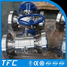 duplex steel reduced bore A182 F53 ball valve