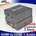Profesyonel hdmi ses çıkarıcı dijital-analog dönüştürücü, hdmi dönüştürücü hdmi için coacial/spdif/r/l