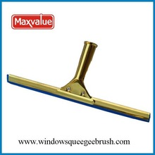 "13"" brass glass cleaning squeegee"