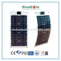 Thin film flexible roofing solar panel, TPE/Aluminum Type