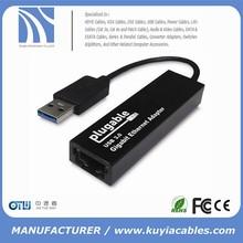 USB 3.0 to 10/100/1000 Gigabit Ethernet RJ45 LAN Network Adapter