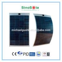 Aluminum-framing marine flexible solar panel