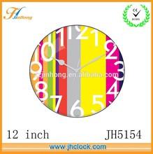 nice 12 inch colour bar clock