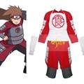 Venda quente!!! Transporte gratuito de naruto shippuden akimichi chouji traje cosplay halloween mens terno roupas vermelhas de preços por atacado
