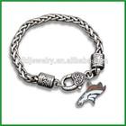Simple Design Denver Broncos Charms Metal Bangle Bracelets