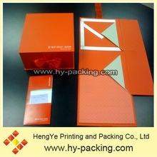 Red Flat Packet Folding Box And Suit Card