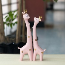 spotted deer ceramic craft home decoration item nice gift adorable pottery and porcelain for living room FE300603