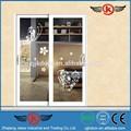 Jk-aw9153 esterno porta a soffietto/spessore porta in vetro/porta scorrevole di ferro