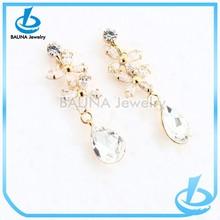 Luxury fashion flower 2 gram gold beautiful designed earrings