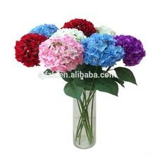 Fashion colorful silk artificial hydrangea flowers