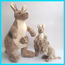 "25/35/60cm(10/14/24"") 3 size kangaroo Stuffed Animal Plush Soft Toys Cute Doll"