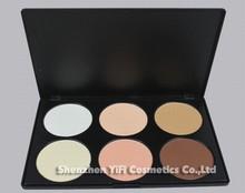 Cosmetics wholesale professional cheap makeup 6 colored contour palette