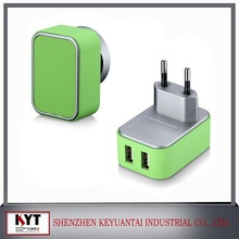 ce, rohs, fcc,erp approved 5V 3.1A dual usb wall charger