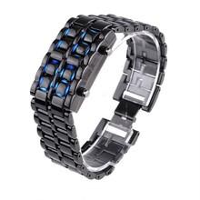 2014 cheap iron samurai japanese inspired led watch bulk stock custmize supported