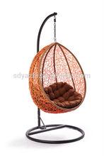 outdoor & indoor swing rattan egg chair