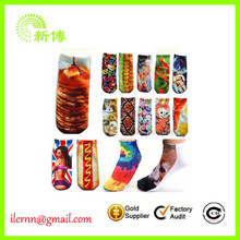 printing cartoon animals fashionable 3D cat women socks