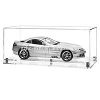 high transparent acrylic car model display case