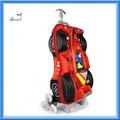 mais novo desgin 3d f1 automobilismo beleza trolley bolsa escola para as crianças