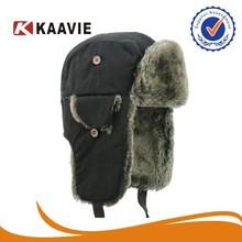 NEW Black Canadian Fur Warm Ushanka Trapper