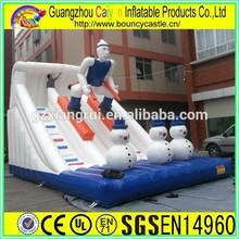 White inflatable toboggan slide