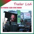 sunrise 3350mm led de luz de propaganda con los vehículos de cabeza plana de la cabina
