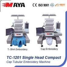 Single Head Cap Tubular Embroidery Machine