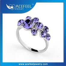 Fashion Design Italina Silver Violet Engagement Ring 959180B