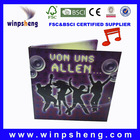 listen your love! music promotion party invitation card with LED flash