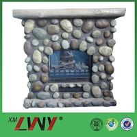 Fashion nature fiberglass resin used electric fireplace