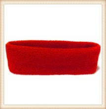 2014 fancy red hair accessories manufacturer men elastic hairband terry cloth headband