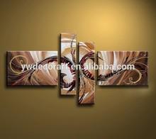 Original design 4pcs group canvas oil painting abstract art