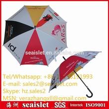 8 different panel plastic handle pongee umbrella, premium umbrella, gifts and premium
