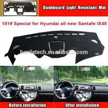 Dashboard Cover Mat for Hyundai Santafe, sun block mat New Material Fireproof Polyester Fiber