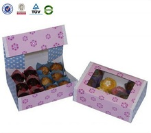 Alibaba Supplier china factory custom foldable paper cupcake box packaging