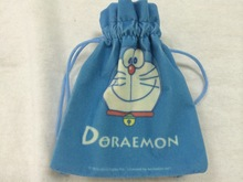 CUTE custom logo top fabric small velvet bag for gift jewelry