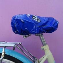 Blue Waterproof Plastic Bike Seat Covers/Bicycle covers