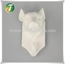 Ceramic animal figurine clothes-hook & hangers wholesale designer wall hooks