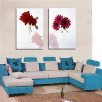simple red rose oil painting on canvas