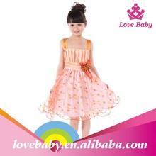Low price promotion short dress in chiffon lovely girls chiffon dress